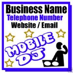 MOBILE MUSIC DJ BUSINESS MAGNETIC CAR / VAN SIGN